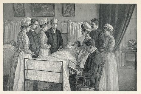 Bellevue Hospital New York a Critical Case--Stretched Canvas Print