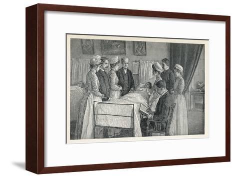 Bellevue Hospital New York a Critical Case--Framed Art Print