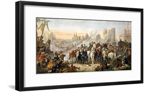 The Relief of Lucknow Where the Garrison and Residents Had Been Besieged by Sir Colin Campbell--Framed Art Print