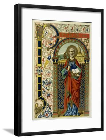 Saint Peter the First Pope Depicted Holding the Key of the Kingdom the Vatican--Framed Art Print