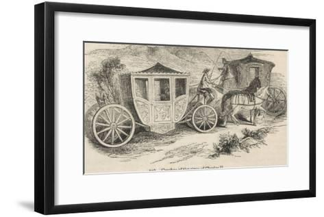 Horse-Drawn Coaches from the Time of Charles II--Framed Art Print