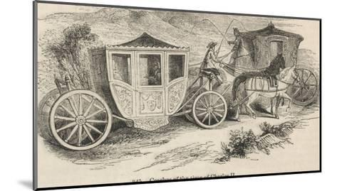 Horse-Drawn Coaches from the Time of Charles II--Mounted Giclee Print