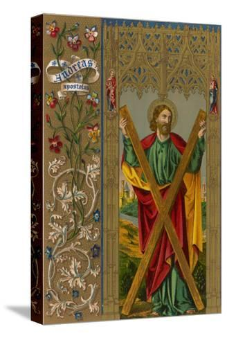 Saint Andrew One of Jesus's Apostles He is Depicted Holding the Cross on Which He Will be Crucified--Stretched Canvas Print