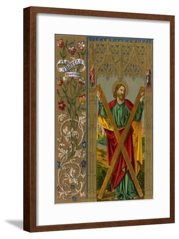 Saint Andrew One of Jesus's Apostles He is Depicted Holding the Cross on Which He Will be Crucified--Framed Art Print