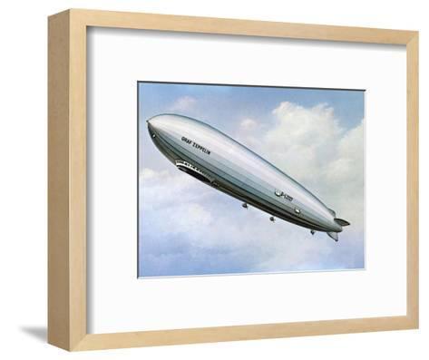 LZ 127 Graf Zeppelin--Framed Art Print
