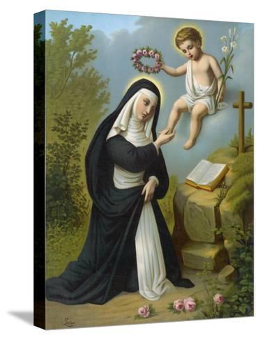 Santa Rosa di Lima Displays a Luminous Glow, a Phenomenon Reported of Many Religious Figures--Stretched Canvas Print
