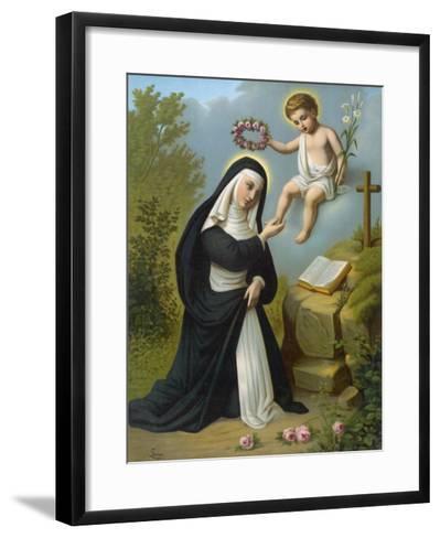 Santa Rosa di Lima Displays a Luminous Glow, a Phenomenon Reported of Many Religious Figures--Framed Art Print