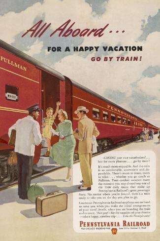 Promoting the Pennsylvania Railroad--Stretched Canvas Print