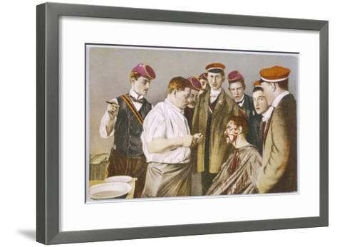 Red-Capped Heidelberg Students with Their Colleague--Framed Art Print