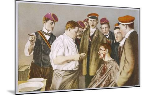 Red-Capped Heidelberg Students with Their Colleague--Mounted Giclee Print
