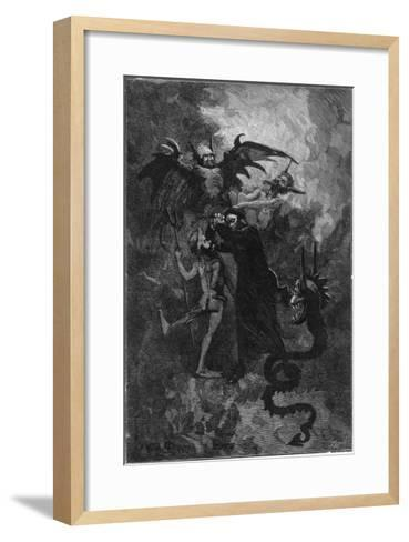 Pere Surin, Sent to Exorcise the Demons Plaguing the Nuns of Saint-Ursule--Framed Art Print