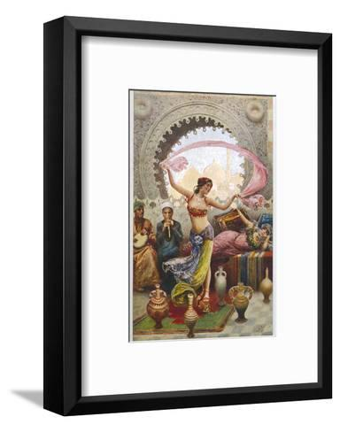 Middle Eastern Belly Dancer Dancing with a Veil to Musical Accompaniment--Framed Art Print