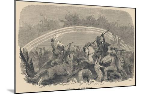Ragnarok the Last Battle--Mounted Giclee Print