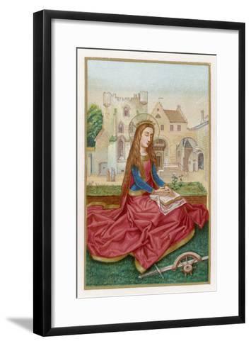 St. Catherine of Alexandria Virgin Martyr and Saint--Framed Art Print