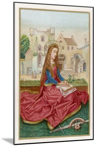 St. Catherine of Alexandria Virgin Martyr and Saint--Mounted Giclee Print