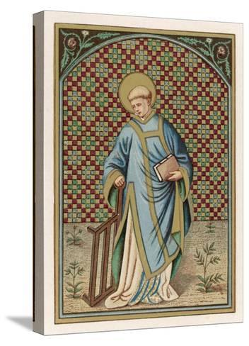 Saint Laurence of Rome Depicted with the Grid on Which He Will Soon be Martyred--Stretched Canvas Print