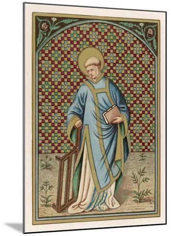 Saint Laurence of Rome Depicted with the Grid on Which He Will Soon be Martyred--Mounted Giclee Print