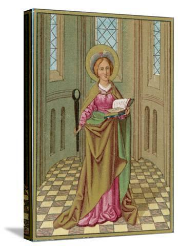 Saint Agatha Martyred Virgin--Stretched Canvas Print