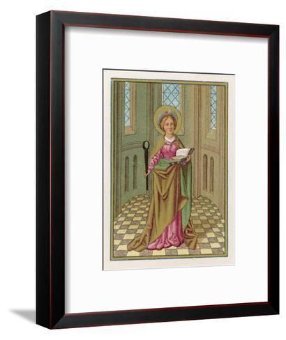 Saint Agatha Martyred Virgin--Framed Art Print
