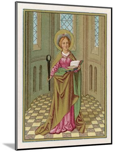 Saint Agatha Martyred Virgin--Mounted Giclee Print