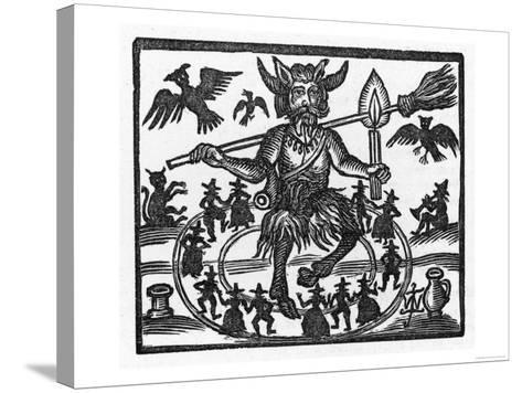 The Devil Dominates the Sabbat--Stretched Canvas Print