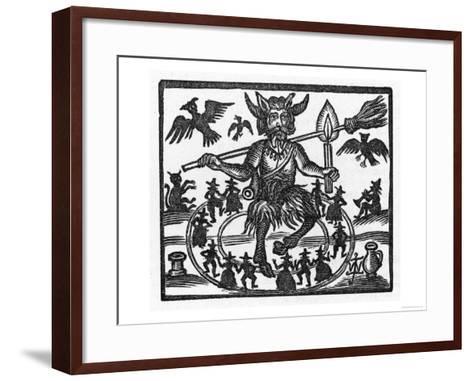 The Devil Dominates the Sabbat--Framed Art Print