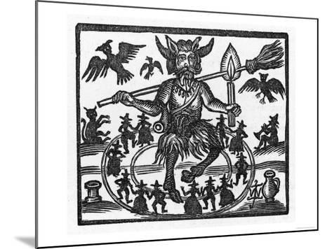 The Devil Dominates the Sabbat--Mounted Giclee Print