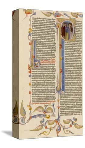 Page from a 14th Century Italian Bible--Stretched Canvas Print