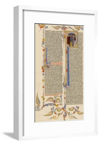 Page from a 14th Century Italian Bible--Framed Art Print