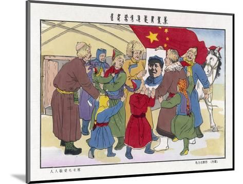 Poster of Mao, The Peasants' Hero--Mounted Giclee Print