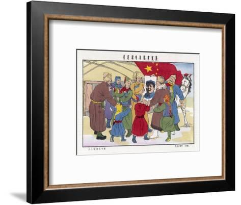 Poster of Mao, The Peasants' Hero--Framed Art Print