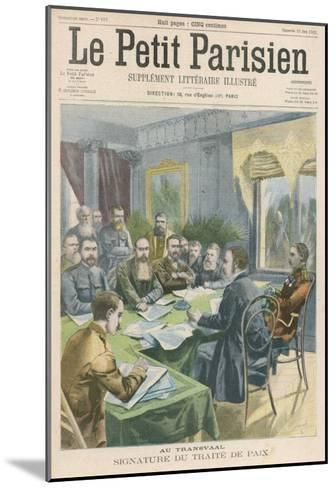 Peace the Peace Treaty is Signed in Pretoria by Christiaan de Wet and Kitchener--Mounted Giclee Print