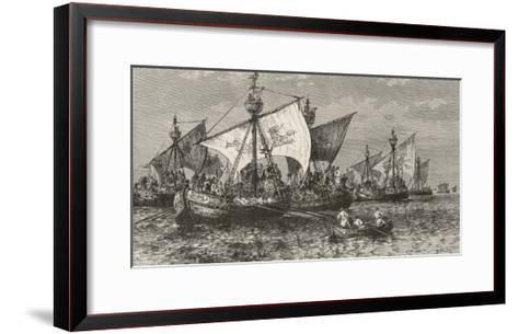 The Crusaders Cross the Bosphorus--Framed Art Print