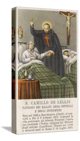 Saint Camillo de Lellis Patron Saint of the Sick--Stretched Canvas Print
