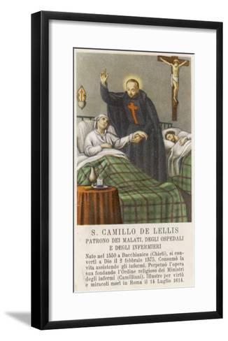 Saint Camillo de Lellis Patron Saint of the Sick--Framed Art Print