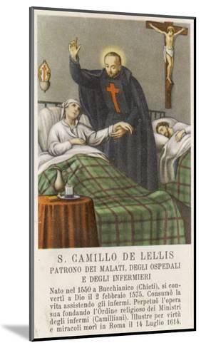 Saint Camillo de Lellis Patron Saint of the Sick--Mounted Giclee Print