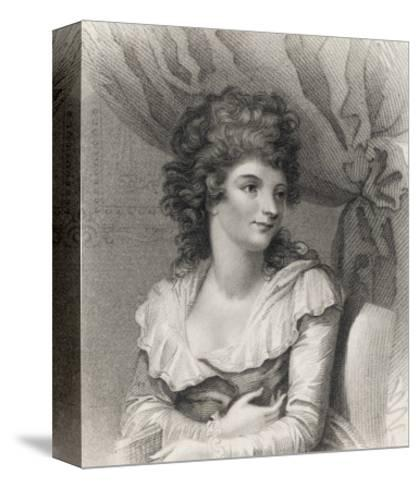 Hannah Cowley Comic Dramatist--Stretched Canvas Print