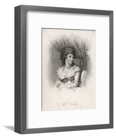 Hannah Cowley Comic Dramatist--Framed Art Print