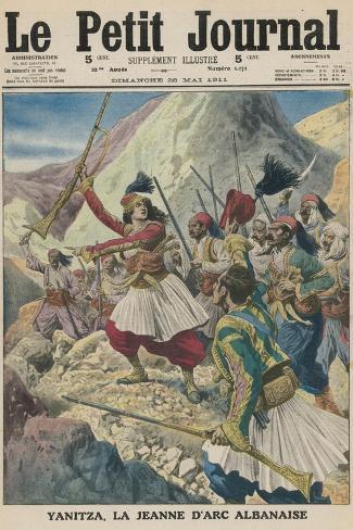 Twenty-Two Year Old Yanitza Leads the Albanian Patriots in a Revolt Against Turkish Rule--Stretched Canvas Print