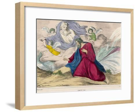 He is Disgorged by the Whale and is Instructed by God What He Should Do Next--Framed Art Print