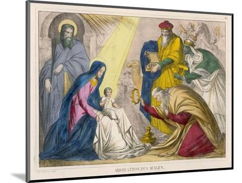 The Magi Present the Young Jesus with the Birthday Gifts They Have Brought Him--Mounted Giclee Print