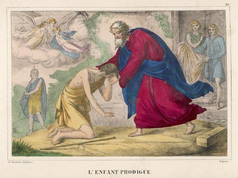 "The Parable of ""The Prodigal Son"" Welcomed Home by His Father--Stretched Canvas Print"
