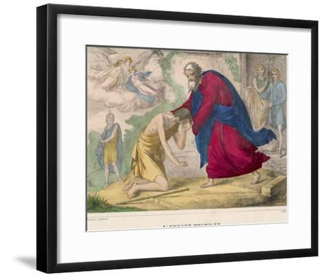 "The Parable of ""The Prodigal Son"" Welcomed Home by His Father--Framed Art Print"