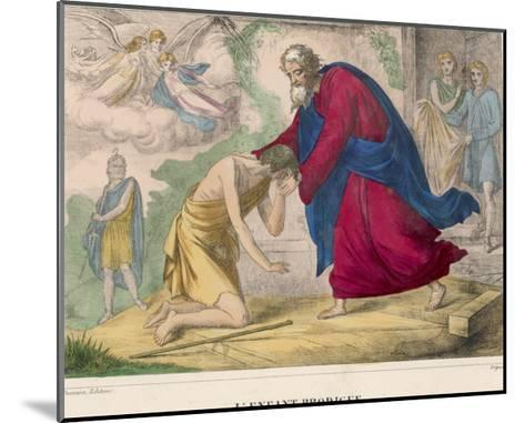 "The Parable of ""The Prodigal Son"" Welcomed Home by His Father--Mounted Giclee Print"