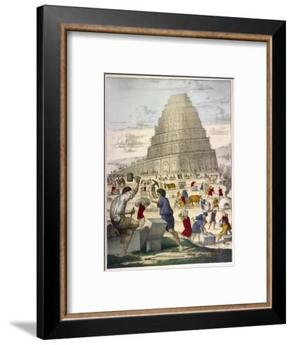 The Building of the Great Tower--Framed Art Print