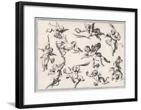 Selection of Cherubs in Various Positions--Framed Art Print