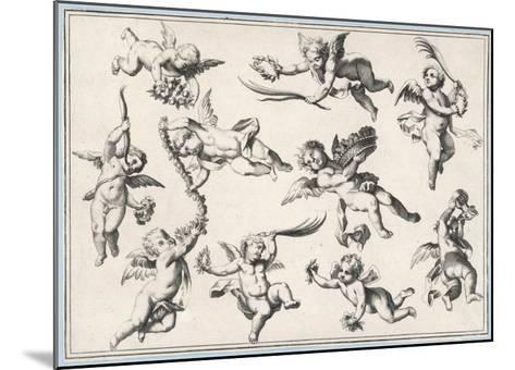 Selection of Cherubs in Various Positions--Mounted Giclee Print