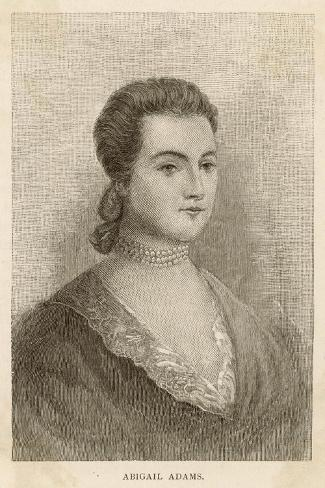 Abigail Adams Nee Smith--Stretched Canvas Print