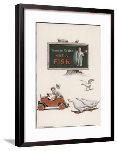 Fisk Tyres, Time to Re-Tire--Framed Art Print