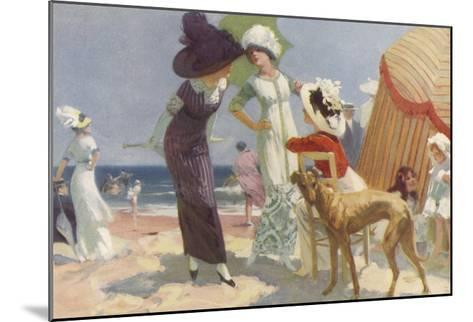 Elegance on the Beach, It's the Place to be Seen and a Lady Wants to be Seen at Her Best--Mounted Giclee Print